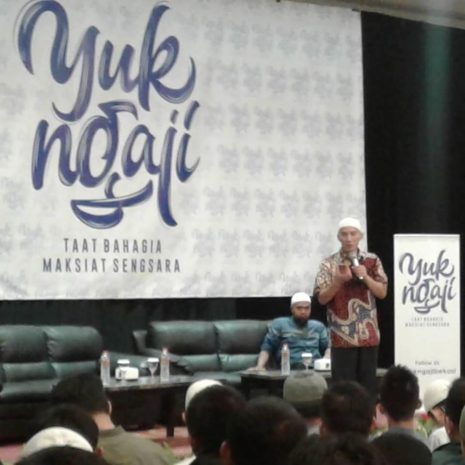 Acara Komunitas Yuk Ngaji Bekasi dengan bintang tamu Ustadz Felix Siauw